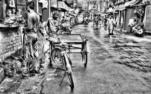 Sprinkling Of People In The Street