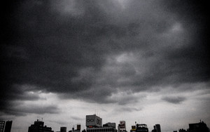 Buildings Under The Dark Clouds