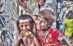 Smiling Boys In Malda