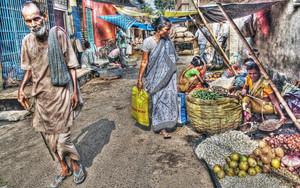 路上の市場