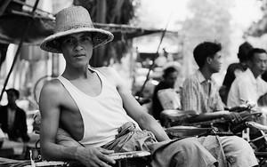 Man Wearing A Straw Hat
