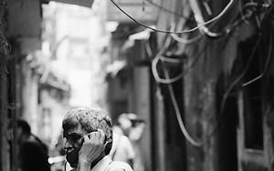 Public Phone In The Dim Lane