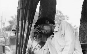 Exhausted Rickshaw Wallah