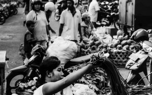 Woman Working At The Market