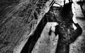 Long Shadow Of A Cycle Rickshaw