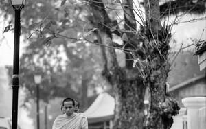 Monks Were Walking Barefoot