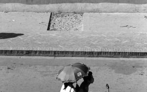 傘のあるバイク