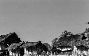Houses In The Village Of Akha Tribe