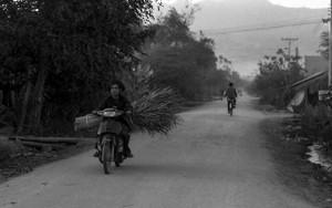 配達中のバイク