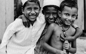 Three Happy Muslim Boys