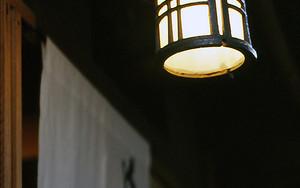 料亭の小さな提灯