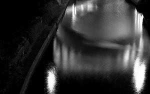 Hijiri-Bashi Bridge In The Night