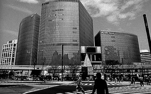 Figure In Sukiyabashi Crossing
