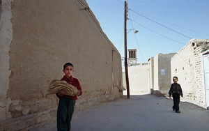 Boy Carrying Naan