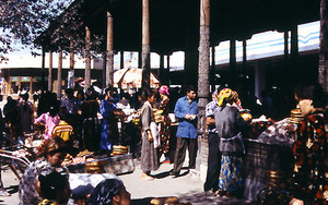 People In The Market Of Samarkand