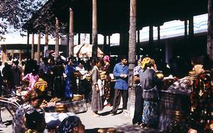 サマルカンドの市場