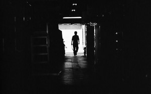 Figure In The Dark Passageway
