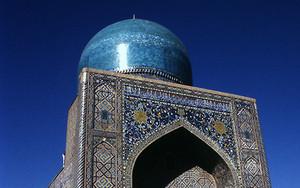 サマルカンドの青いモスク