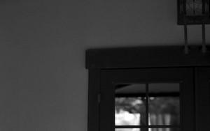 晩香廬のガラス戸