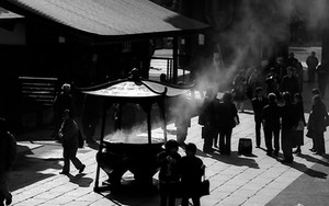 Smoke Coming From The Incense Burner