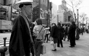Buddhist Monk In Ginza