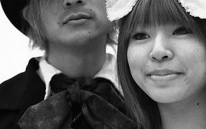 Young Couple In Lolita Fashion