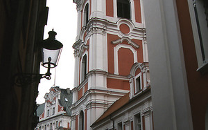 Tower Of The Fara Church In Poznań