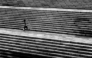 階段でドリブル