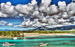 Boats And Clouds In Kabira Bay