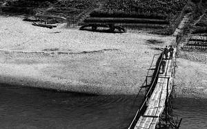 Three Monks On Bamboo Bridge