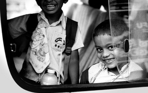 Two Boys On The Car