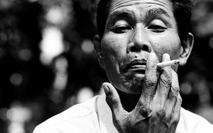 Smoking Man With Wrinkles