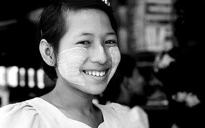 White-cheeked Girl Smiled