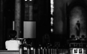 マニラ大聖堂で礼拝