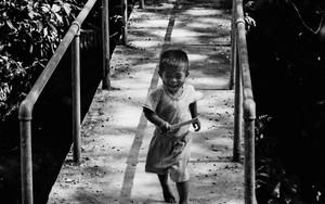 Little Boy On The Bridge