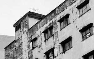 ボロボロの建物の窓