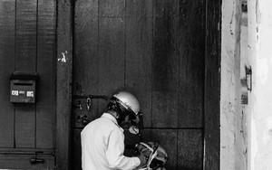 Motorbike In The Corner