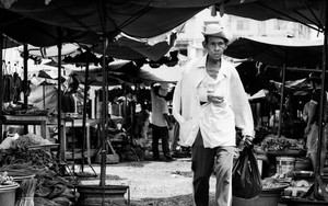 Man Passing Through The Market
