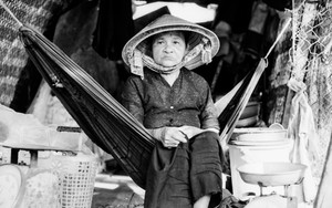 Older Woman On The Hammock