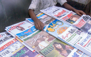 Stand Selling Magazines