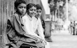 Three Boys Wearing Sherwani