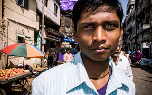 Young Man Shopping In The Market