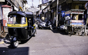 Auto Rickshaw In The Street