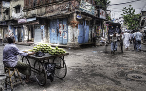 Mango Seller And Rickshaw
