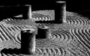 方丈東庭の円柱