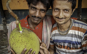 Two Men And A Jackfruit