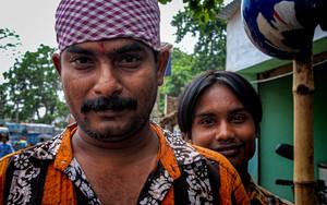 Man Wearing A Bandana And Bindi