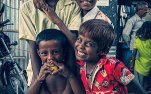 Smiling Boys In Malda