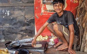 Man Baking Chapati