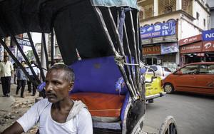 Rickshaw And Man